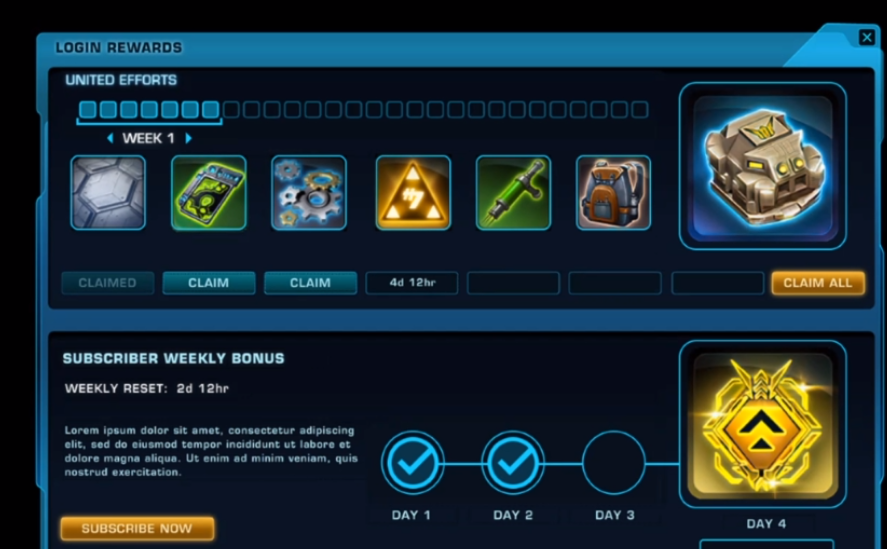 New SWTOR Login Rewards