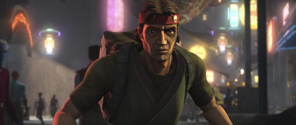Hunter (Dee Bradley-Baker), looking for Omega